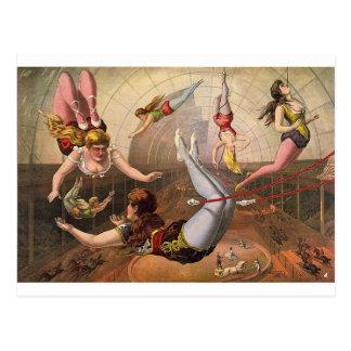 arte del circo tarjeta postal