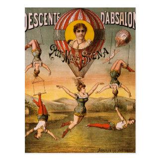 arte del circo tarjetas postales