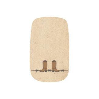 Arte del clavo de las botas de vaquero pegatina para uñas