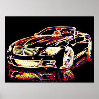 Arte del coche posters