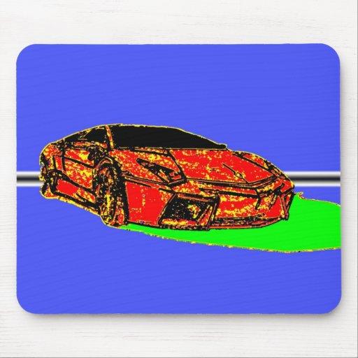 Arte del coche tapetes de raton