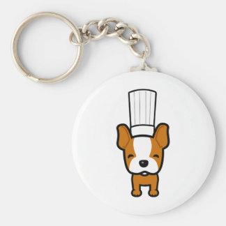 Arte del cocinero del perro en llavero