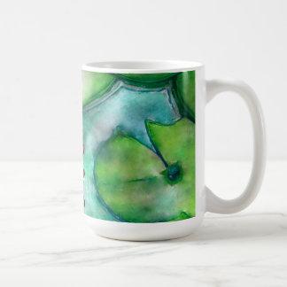 arte del color de agua en una taza