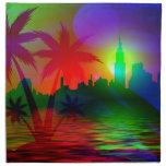 Arte del color del día de fiesta servilletas de papel