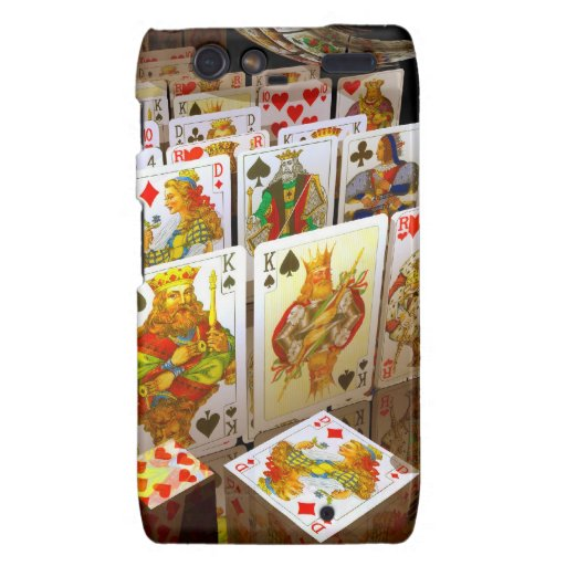 Arte del comodín del póker de los naipes droid RAZR funda