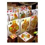 Arte del comodín del póker de los naipes postal