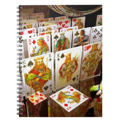 Arte del comodín del póker de los naipes spiral notebook