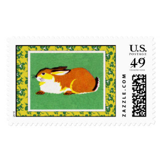 Arte del conejo del vintage timbres postales