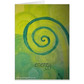 Arte del corazón de la energía felicitación