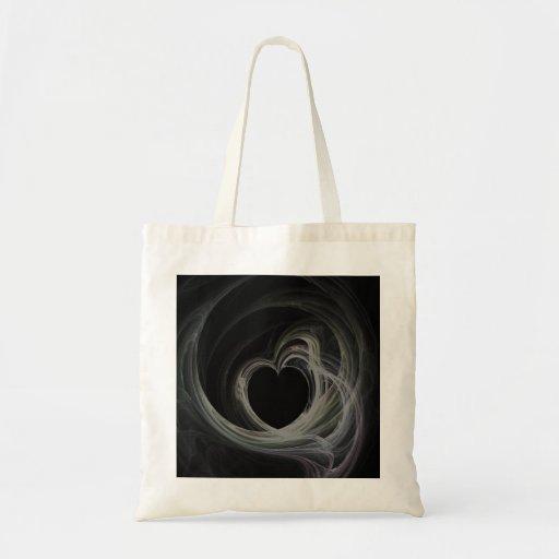 Arte del corazón del fractal bolsa tela barata