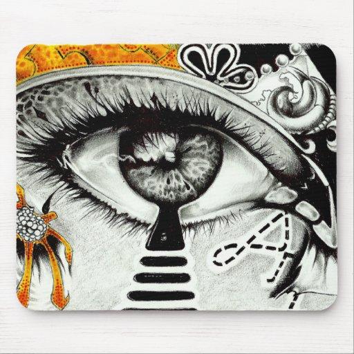 arte del corazón del ojo mousepad