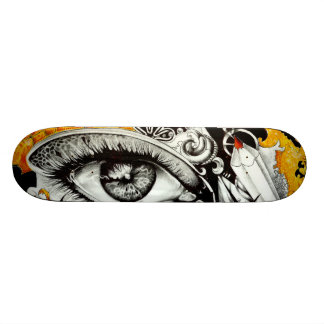 arte del corazón del ojo monopatín personalizado