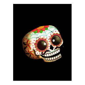 Arte del cráneo de Dia de Los Muertos Sugar Postales