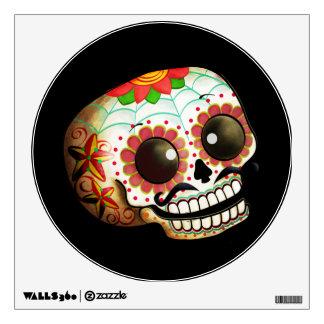 Arte del cráneo de Dia de Los Muertos Sugar Vinilo Decorativo