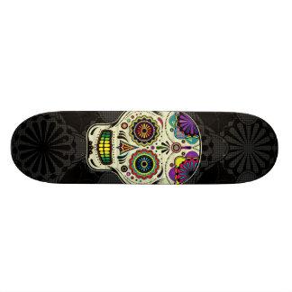 Arte del cráneo del azúcar - día de los muertos skate boards