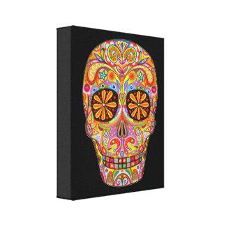 ¡Arte del cráneo del azúcar en lona - aliste para Impresión En Lienzo Estirada