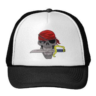 Arte del cráneo del pirata gorro de camionero