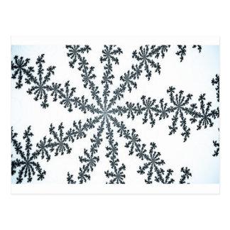 arte del cristal de la nieve tarjetas postales
