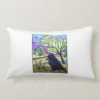 Arte del cuervo cojines