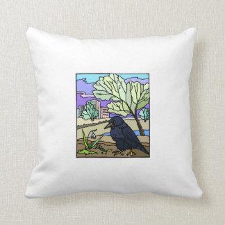 Arte del cuervo almohadas
