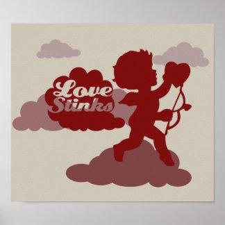 Arte del Cupid del día de las Anti-Tarjetas del dí Póster