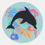 Arte del delfín pegatina