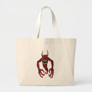 Arte del demonio del infierno bolsa tela grande