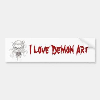 Arte del demonio pegatina para auto