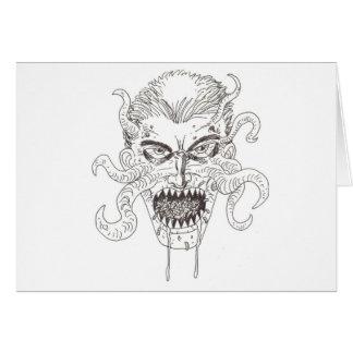 Arte del demonio tarjeta de felicitación