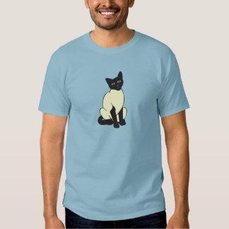 Arte del destino del gatito del maullido del poleras