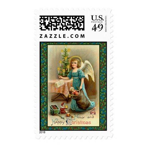 Arte del día de fiesta del vintage en sellos festi