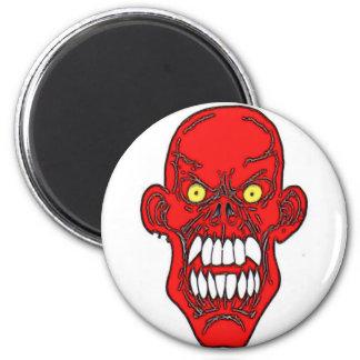 Arte del diablo de Satan Imán Redondo 5 Cm