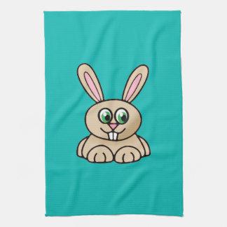 Arte del dibujo animado del conejo de los ojos ver toallas de mano