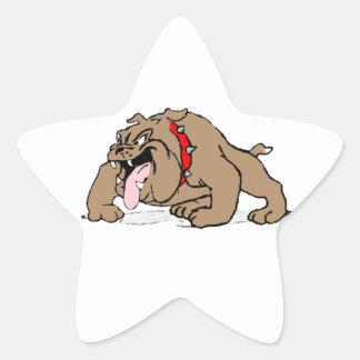 Arte del dibujo animado del dogo pegatina en forma de estrella