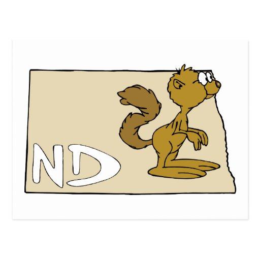 Arte del dibujo animado del mapa y del perro de tarjetas postales