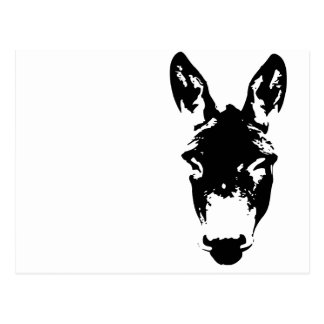 Arte del dibujo de la pintada del burro o de la mu postal