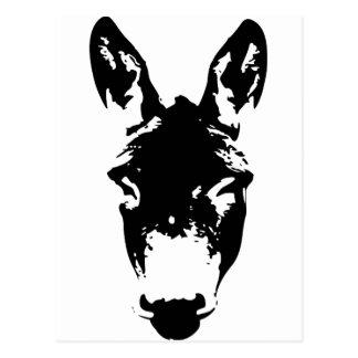 Arte del dibujo de la pintada del burro o de la mu tarjetas postales