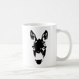 Arte del dibujo de la pintada del burro o de la mu tazas de café