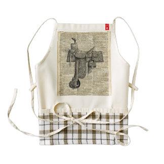 Arte del diccionario de la silla de montar de la delantal zazzle HEART