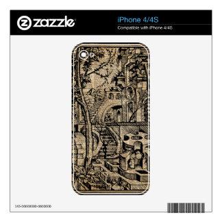 Arte del diccionario de Stret del Griego de la iPhone 4 Skin
