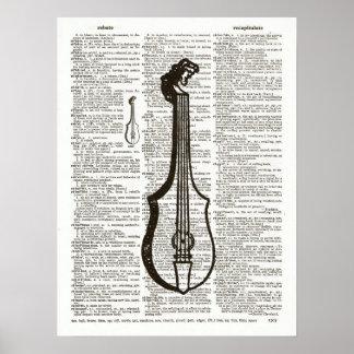 Arte del diccionario del instrumento musical poster