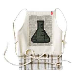 Arte del diccionario del tubo de ensayo delantal zazzle HEART