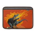 Arte del dinosaurio de la llama que lanza por las  fundas para macbook air
