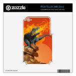 Arte del dinosaurio de la llama que lanza por las  iPod touch 4G skin