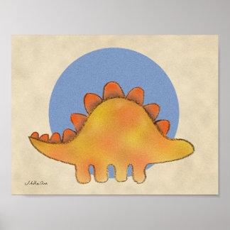 Arte del dinosaurio del Stegosaurus de la Póster