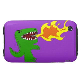 Arte del dinosaurio o del dragón de poco t y Rene iPhone 3 Tough Carcasa