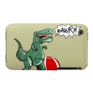 Arte del dinosaurio o del dragón por el contrario Case-Mate iPhone 3 cobertura