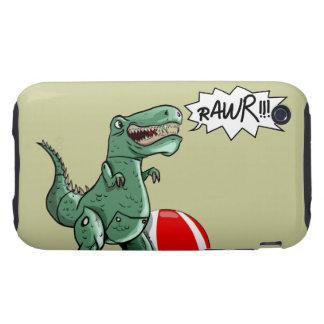 Arte del dinosaurio o del dragón por el contrario iPhone 3 tough fundas