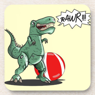 Arte del dinosaurio o del dragón por el contrario posavasos de bebida