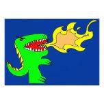 Arte del dinosaurio o del dragón por poco t + José Invitación Personalizada